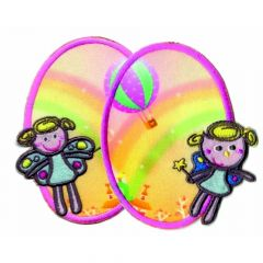 Iron-on knee patches with fairies 2 pcs - 5 sets