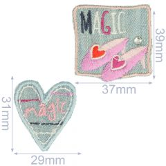 HKM Iron-on patch magic and shoes jeans - 5x2pcs