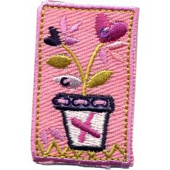 Iron-on patches flowers pink - 5pcs