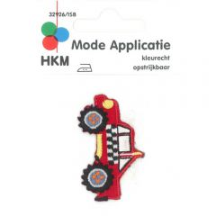 Iron-on patches All-terrain vehicle red - 5pcs
