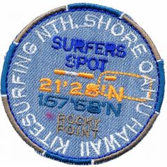 Iron-on patch surfer spot button - 5pcs
