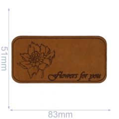 Iron-on patches Flowers For You leather lasered  - 5pcs