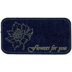 Iron-on patches Flowers for you jeans lasered - 5pcs