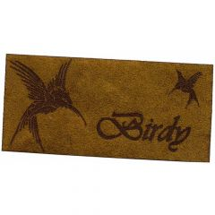 Iron-on patches Birdy bird leather lasered - 5pcs