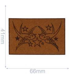 Iron-on patches Birds leather lasered  - 5pcs