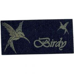 Iron-on patches Birdy bird jeans lasered - 5pcs