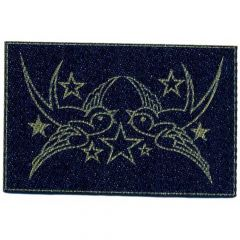 Iron-on patches Two birds with star jeans lasered - 5pcs