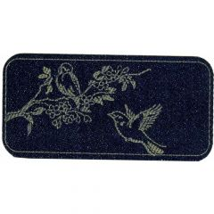 Iron-on patches Two birds jeans lasered - 5pcs