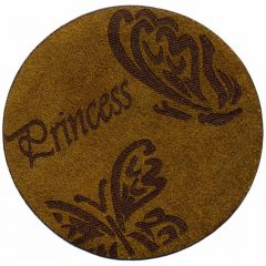 Iron-on patches Princess Butterflys leather lasered - 5pcs