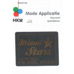 Iron-on patches Miami Stars leather lasered - 5pcs