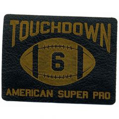 Iron-on patches Touchdown lasered leather - 5pcs