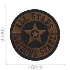 Iron-on patches All Stars leather lasered  - 5pcs