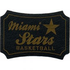 Iron-on patches Miami Stars Basketball lasered leather - 5pcs