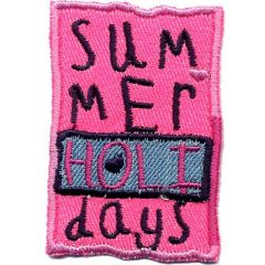 Iron-on patches Summer Holidays pink - 5pcs