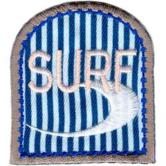 Iron-on patches Surf with wave - 5pcs