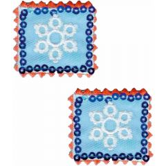 Iron-on patches Stamps with Snow flakes set 2 pcs - 5 sets