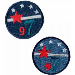 Iron-on patches set of buttons jeans 2 pcs - 5 sets
