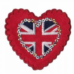 Iron-on patch heart London small-large - 5pcs