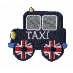Iron-on patches Londen Taxi - 5pcs