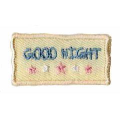Iron-on patch good night - 5pcs