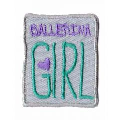 Iron-on patches ballerina girl beige - 5pcs