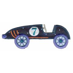 Iron-on patch race car - 5pcs