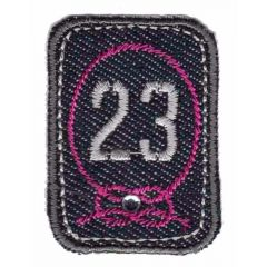 Iron-on patches 23 grey-pink - 5pcs