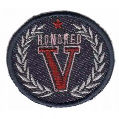 Iron-on patch honored V - 5pcs