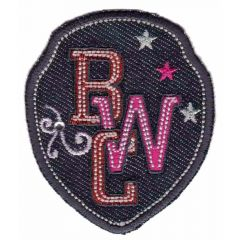 Iron-on patches shield RWC jeans - 5pcs