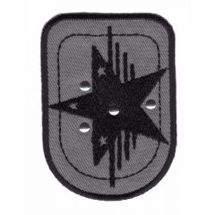Iron-on patches shield star - 5pcs