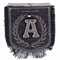 Iron-on patches shield jeans A - 5pcs
