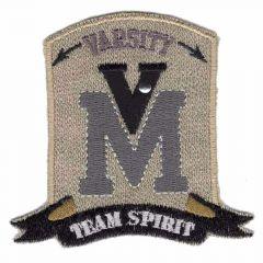 Iron-on patch V M - 5pcs