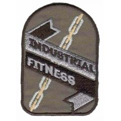 Iron-on patch industrial fitness - 5pcs