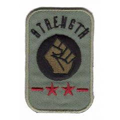Iron-on patch strength fist or stars - 5pcs