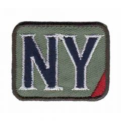 Iron-on patches NY - 5pcs