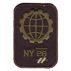 Iron-on patches NY globe - 5pcs