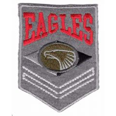 Iron-on patch eagles shield - 5pcs