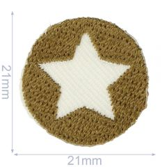 HKM Iron-on patch star - 5pcs