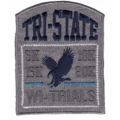 Iron-on patch tri state - 5pcs