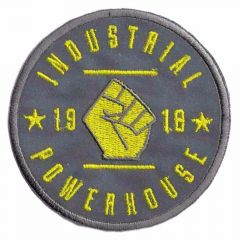 Iron-on patches Reflective Industrial Powerhouse yellow - 5pcs