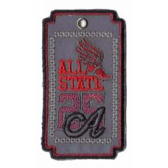 Iron-on patch reflective all state - 5pcs