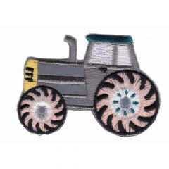 Iron-on patch reflective tractor - 5pcs
