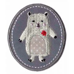 HKM Iron-on patch reflective with animals - 5pcs