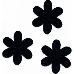 Iron-on patch flower large - 5x3pcs