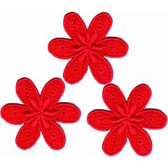 Iron-on patch flower small - 5x3pcs