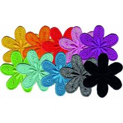 Iron-on patches flowers large ass. set of 10 - 5 sets