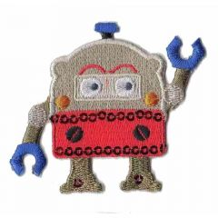 Iron-on patch robot - 5pcs