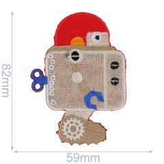 HKM Iron-on patch robot - 5pcs