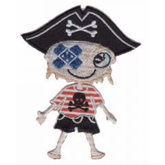 Iron-on patches Pirate boy with band-aid - 5pcs