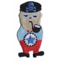 Iron-on patches Sailor with pipe in mouth - 5pcs